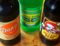 Assorted specialty sodas