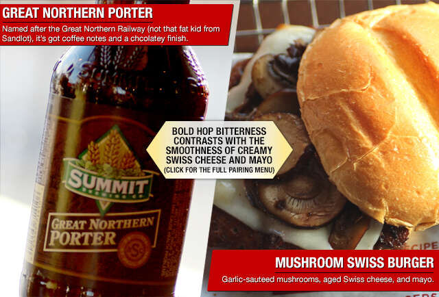 Your graphic guide to pairing burgers n\' beers