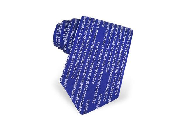 A tie that secretly ridicules conformity