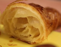 A flaky pastry