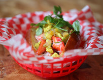 An Indian style lobster roll
