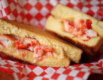 A grilled cheese lobster roll