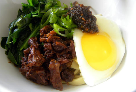 Beef and egg dish at Kedai Makan in Seattle