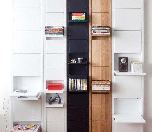 Shelves that disappear on command
