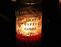 "A ""Lucky Gypsy Candle"""
