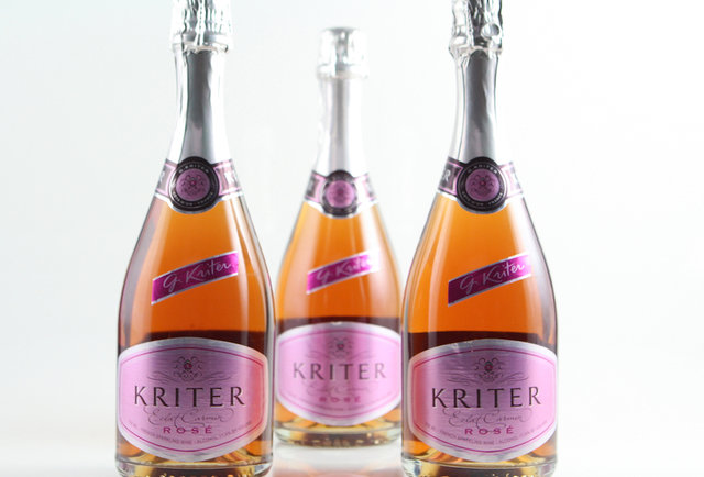 Pink bubbles to complement your Valentine\'s Day dinner