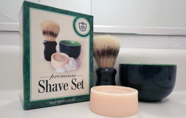 An all-in-one gentleman's shave set