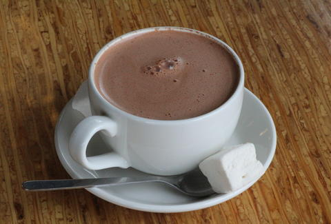 Hot cocoa at Eclipse Chocolate in San Diego