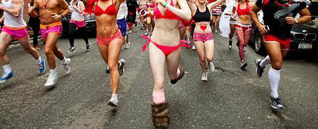 A semi-nude marathon for charity… and ogling