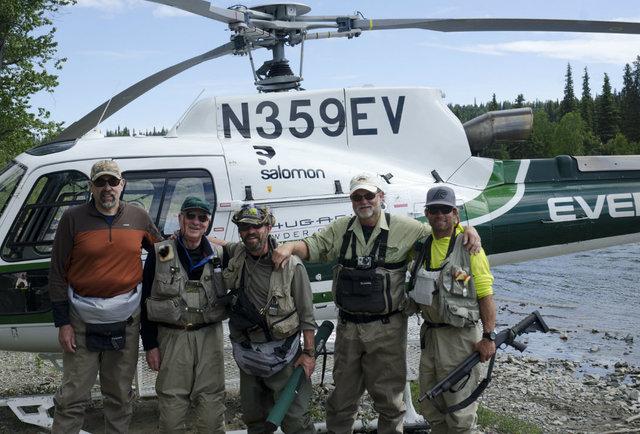 Go heli-skiing <em>and</em> heli-salmon-fishing in Alaska