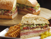 Club sandwich and waffle fries at Citizens Kitchen and Bar in Las Vegas