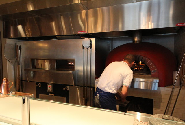 Two styles of wood-fired pizza in Solana Beach