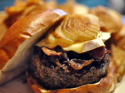 A burger at Kuma's