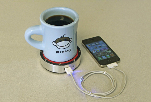 Charge your phone with a drink