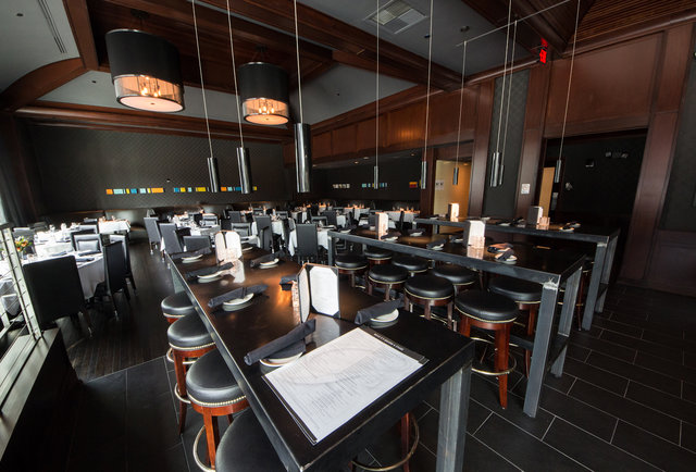 An old-school steakhouse at the Frost Tower