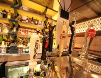 The draught beer selection