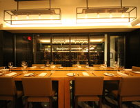 A long dinning table