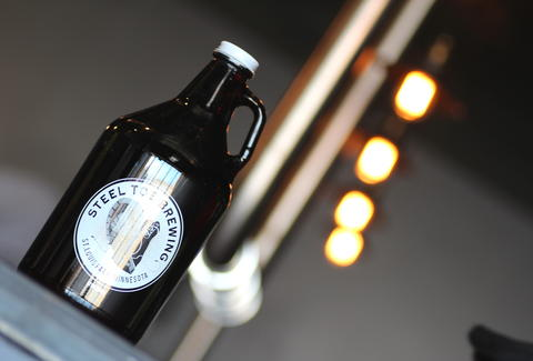 growler from Steel Toe Brewing Minnesota brewery beer craft beer