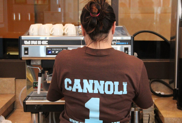 Colossal cannoli in Center City