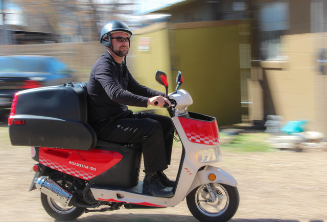 Hello, scooter that delivers food and booze