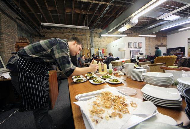 Underground dining in a Bucktown warehouse