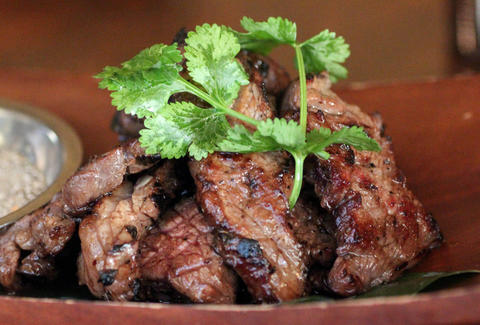 Marinated beef at Mai Thaiku in Seattle