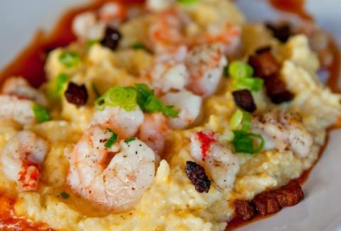 Blue Collar shrimp and grits