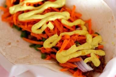 Goat tacos at Reggae Tacos
