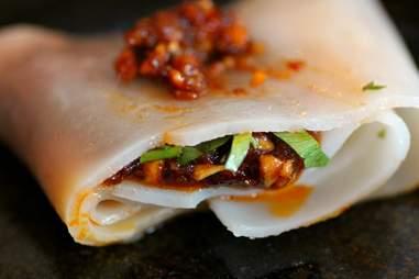 Vermicelli noodle wraps at Khong River House
