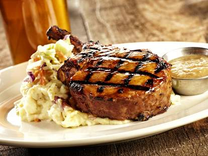 Steak from Rock Bottom Brewery in Seattle