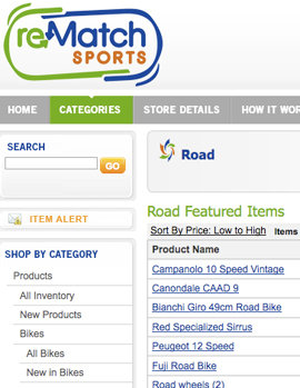Second-hand sporting goods, with none of that Craigslist sketchiness
