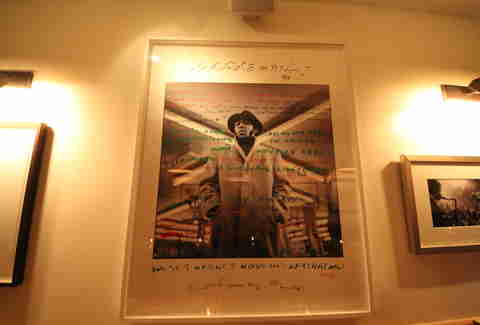 Autographed photo of a gangster-ish man