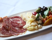 Cheese and salumi at Andiamo Steakhouse in Las Vegas
