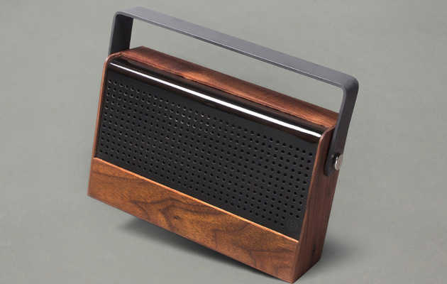 Pump up the jams with this handsome, retro wireless stereo