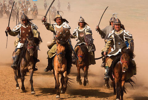 Warriors from the movie The Rise of Genghis Khan