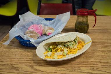Breakfast tacos at Joe's Bakery