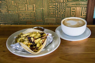 Breakfast tacos at Cenote