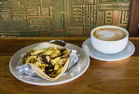 Breakfast tacos at Cenote