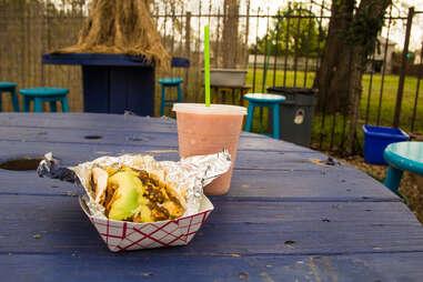 Breakfast tacos at Veracruz All Natural
