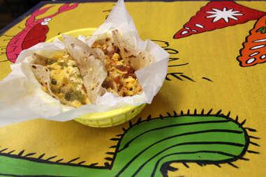 Breakfast tacos at Taco Joint