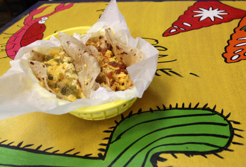 Breakfast tacos at Taco Joint