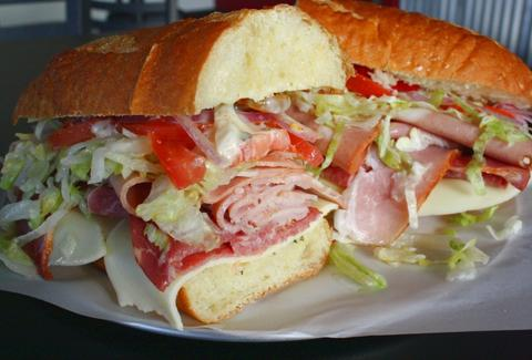 Italian sub at Firehouse Subs in San Diego