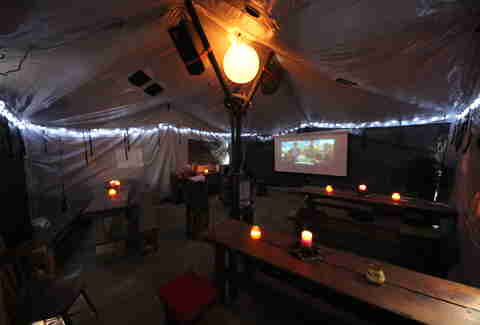 Movie tent at La Gringa