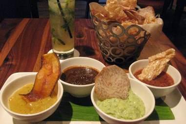 Salsas from Alma Cocina in Atlanta