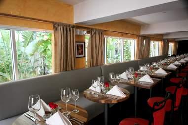 Interior tables at Barock Miami