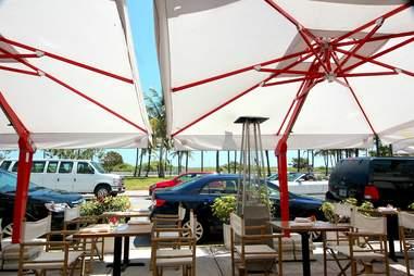 Outdoor seating at Barock Miami