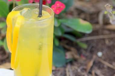 Yellow pepper gin fizz at Barock Miami