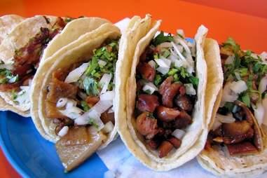 Carnitas tacos at Metro Balderas