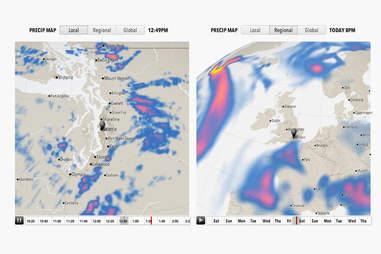 Forecast Weather App Precipitation Screen Shot