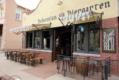 the outdoor patio at Bohemian Biergarten